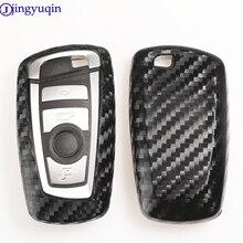 Jingyuqin 2/3/4 Btns الكربون سيليكون سيارة مفتاح القضية غطاء ل BMW 520 525 f30 f10 F18 118i 320i 1 3 5 7 سلسلة X3 X4 M3 M4 M5