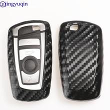 Jingyuqin 2/3/4 Btns Carbon Silikon Auto Schlüssel Fall Abdeckung Für BMW 520 525 f30 f10 F18 118i 320i 1 3 5 7 serie X3 X4 M3 M4 M5