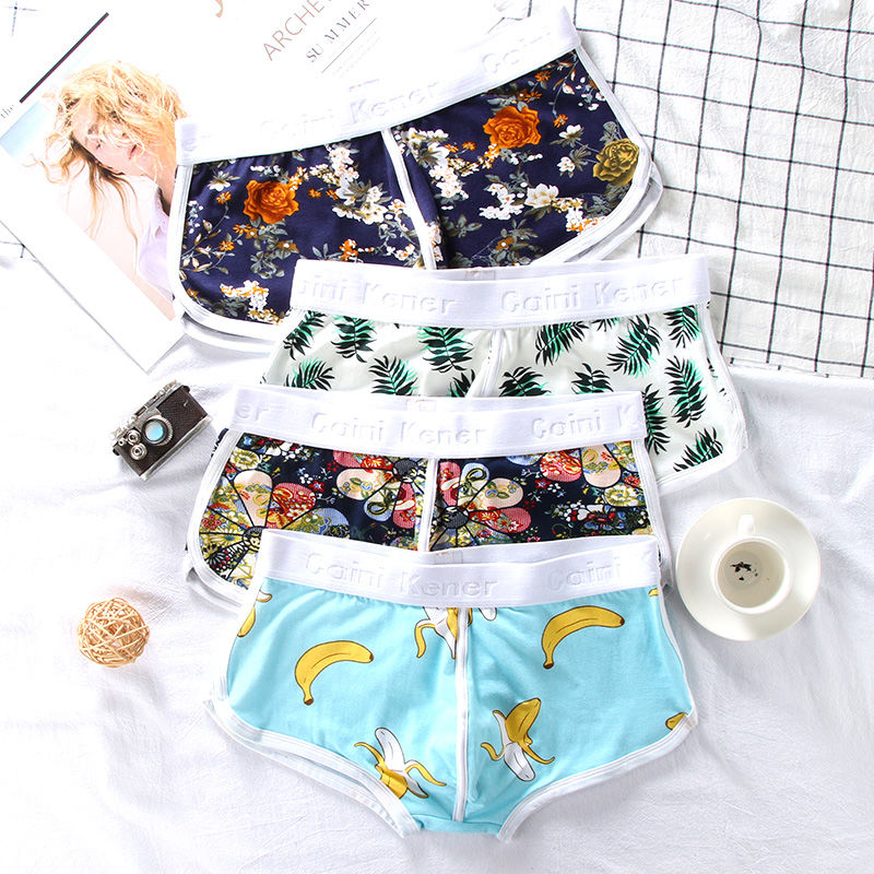 кальсоны Men Boxers 95% Cotton 5% Spandex Male Panties Max 100kg 3pcs/lot Sexy Print Underwear Quality Assurance Sports Style3XL