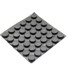 36PCS 15mm x 1-5mm clear anti slip silicone rubber plastic bumper damper shock absorber 3M self-adhesive silicone feet pads