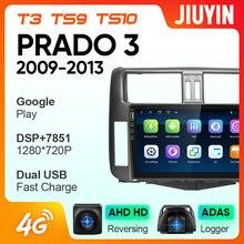 Jiuyin fortoyota prado 2010-2013 rádio do carro reprodutor de vídeo multimídia navegação gps android nenhum 2din 2 din