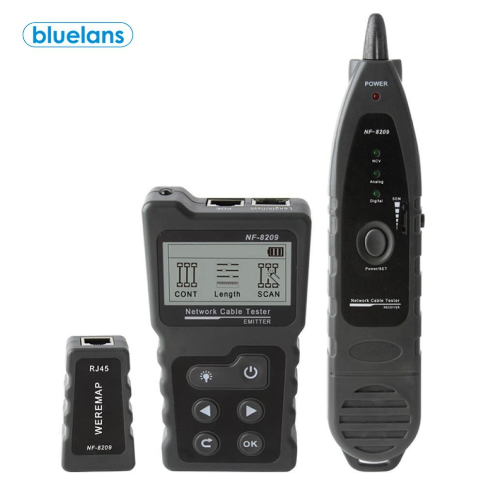NF-8209 LCD Network Cable Tester Multi-functional LCD Display Lan Cable POE Wire Checker Cat5 Cat6 Network Scan Test Tool