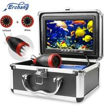 """Erchang câmera de pesca subaquática 1000tvl 7 """"15m/30m 12 pçs branco + 12 pçs câmera infravermelha gelo/mar pesca"""