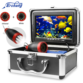 Erchang lokalizator ryb podwodna kamera wędkarska HD 1000TVL 7 #8222 15 M kamera na podczerwień kamera wędkarska wędkarska tanie i dobre opinie Kabel 200 Khz Dc 10 v-18 v 0 6-30 metr Rosyjski 92degrees Dc 10-18 v 7 inch 1000tvl 12pcs Infrared Led+12pcs white led