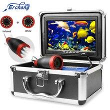 """Erchang sualtı balıkçılık kamera 1000TVL 7 """"15M /30M 12 adet beyaz + 12 adet kızılötesi kamera buz/deniz balıkçılık"""