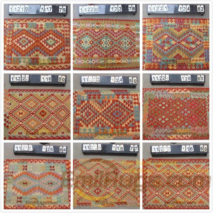 Tapis kilim laine fait main turc canapé couverture géométrique bohème naturel