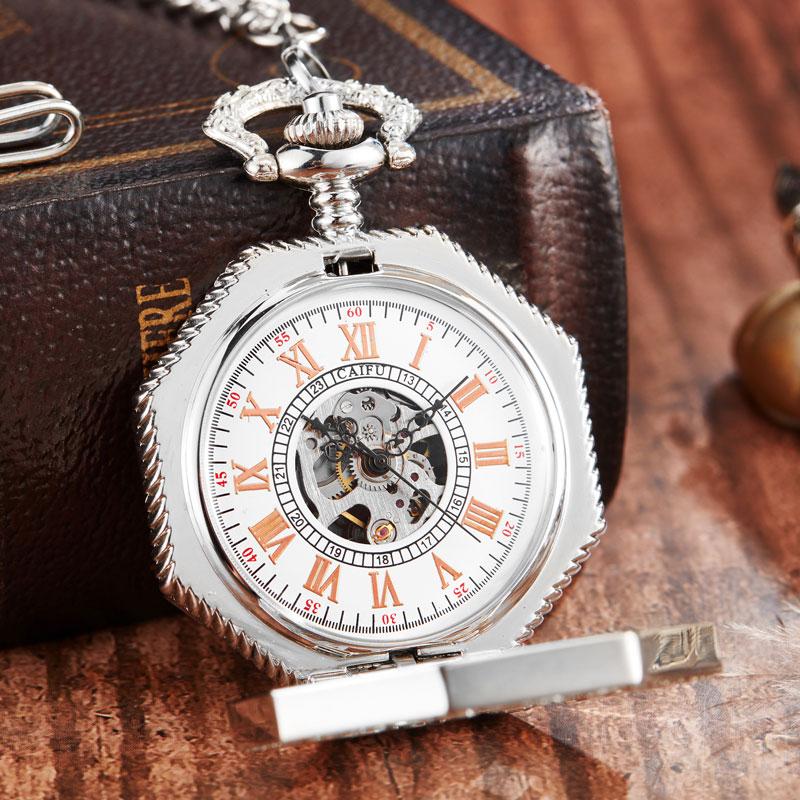 Relógio de Bolso com Corrente FOB Steampunk