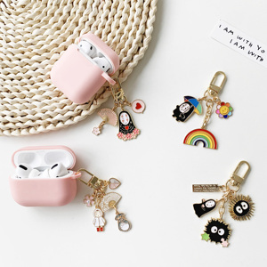 Cartoon Japan Anime Spirited Silicone Apple Airpods 1 2 Accessories Case Protective Cover Bag Pendent Charm Airpods Accessories(China)
