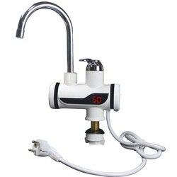 3000 Вт Мгновенный водонагреватель кран с дисплеем температуры водонагреватель Электрический водонагреватель без резервуара для ванной ком...