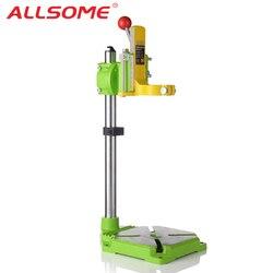ALLSOME MINIQ BG6117 настольная дрель стенд/пресс Мини электрическая дрель несущей Кронштейн 90 градусов вращающийся фиксированной рамы верстак заж...