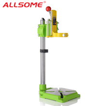 ALLSOME MINIQ BG6117 Bench Drill Stand/Press Mini Electric Drill Carrier Bracket 90 Degree Rotating Fixed Frame Workbench Clamp dremel electric drill stand power rotary tools accessories bench drill press stand diy tool double clamp base frame drill holder