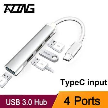 USB C HUB USB 3.0 HUB TypeC USB Splitter Thunderbolt 3 USB-C dok Adapter OTG dla Macbook Pro 13 15 Air Mi Pro HUAWEI Matebook
