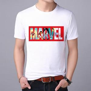 Мужская футболка с супергероями Lus Los, футболка супергероя Железного человека, Супермена, Тора, солдата Марвел, одежда Мстителей, мужская оде...