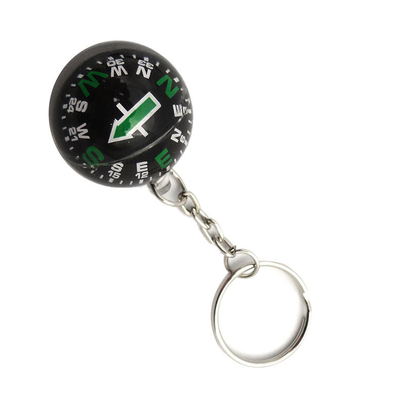 28MM Liquid Survival Keychain Ball Camping Compass Hiking Tool SCI2 28mm Guide Ball Camping & Hiking Compasses Entertainment