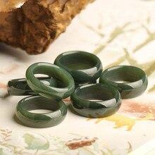 Натуральные кольца из хотанского нефрита, сапфировое кольцо для мужчин и женщин, нефритовое кольцо, подарок из нефрита, кольца для мужчин и женщин, настоящий нефрит