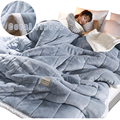 Blanket for Bed Winter Coral Fleece Quilt Cover Blanket Flannel Winter Air Conditioning Blanket Single Double Bed