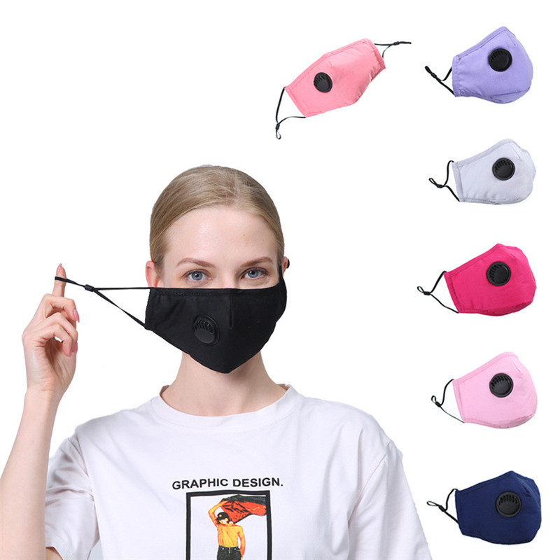 Anti Pollution Mouth Mask Dust Respirator Washable Reusable Masks Cotton Unisex Mouth Muffle Activated Carbon Filters PM2.5 Mask