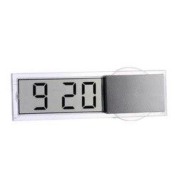 Mini cyfrowy elektroniczny zegar samochodowy Mini trwały elektroniczny przeźroczysty wyświetlacz lcd cyfrowy z przyssawką Universa na