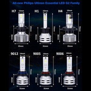 Image 5 - H7 LED Philips H4 H1 H8 H11 H16 HB3 HB4 HIR2 9005 9006 9012 Philips Ultinon Essential G2 LED 6500K Car Headlight Auto Fog Lamp