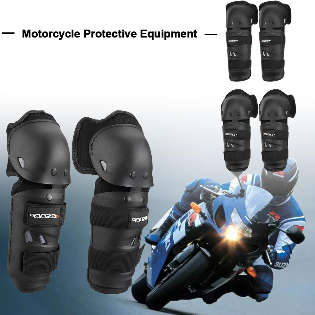 Kneepad Elbow 4PCS/Set Long Leggings Shatter-resistant Elbow Knee Pad Protection Shin Guards Outdoor Riding Safety Gear