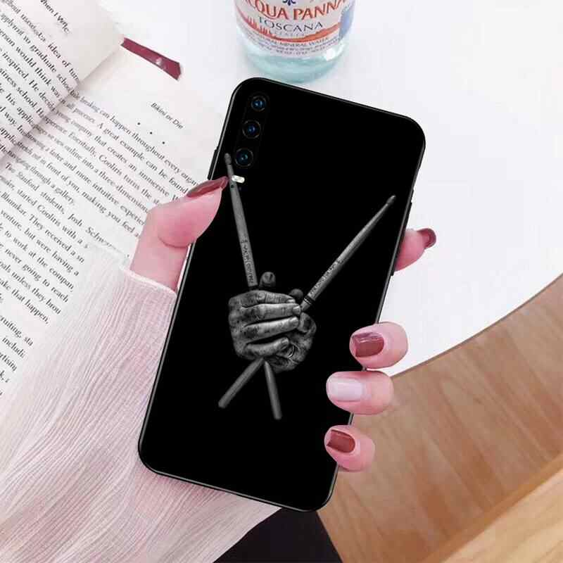 PENGHUWAN Musical instrument drum Black Soft Shell Phone Case Capa for Huawei P30 P20 Mate 20 Pro Lite Smart Y9 prime 2019