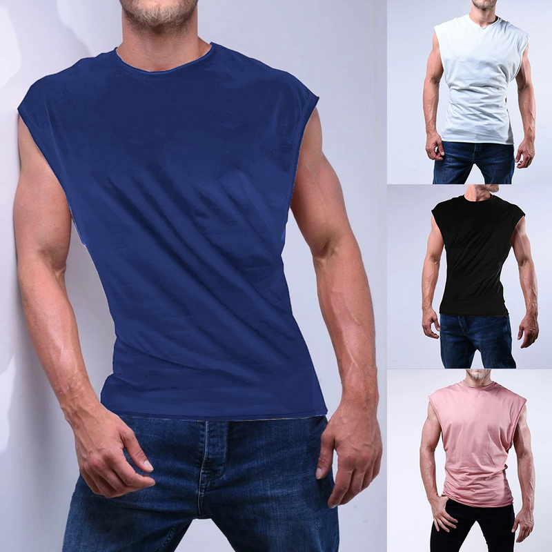 Loozykit Men's Workout Tank Top Sleeveless Muscle Shirt Gym Training Bodybuilding Tee Undershirt Casual Vest Gym Workout Fitness