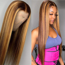 Human-Hair-Wigs Color Brazilian Short Bob Straight Highlight Hair-Blonde Virgin Glueless