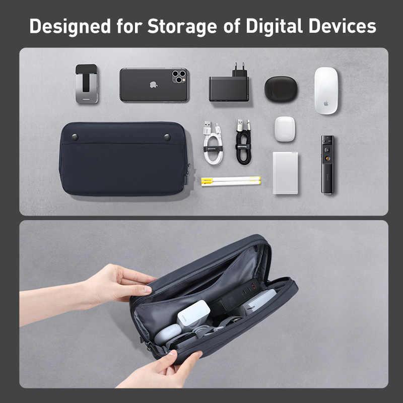 Baseus портативная цифровая сумка для хранения USB гаджеты Кабельный органайзер сумка провода зарядное устройство чехол для наушников Аксессуары для путешествий Органайзер