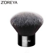 Pinceau Kabuki noir mode femmes marque Zoreya Cheveux synthétiques doux accessoires de maquillage visage portables à emporter et simples demploi