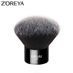Image 1 - Zoreya marca donna moda nero Kabuki pennello morbido capelli sintetici strumenti per il trucco del viso portatile da prendere e facile da usare