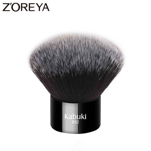Zoreya marca donna moda nero Kabuki pennello morbido capelli sintetici strumenti per il trucco del viso portatile da prendere e facile da usare