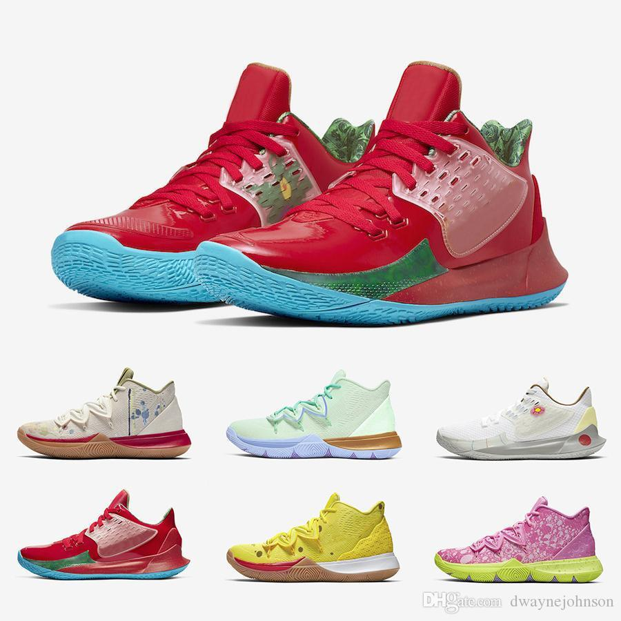Sponge Bob X Irving 5 Mens Basketball Shoes 5s Trainers Mr. Krabs Patrick Squidward Sandy Cheeks Star Women Sports Sneakers Kyri