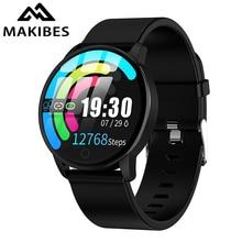 Makibes T5 פרו מתקדם ממילאנו מגנטי כושר גשש חכם שעון לחץ דם צג Smartwatch אופנה PK Q8 צמיד