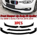 Высококачественный сплиттер для переднего бампера автомобиля F30 F35 ABS, спойлер, диффузор, защитная крышка, комплект для корпуса BMW 3 серии F30 F35...