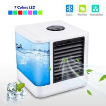 Mini Air Conditioner Air Cooler Fans USB Portable Air Cooler Conditiioner Table mini Fan Cooling For Office 7 Color light