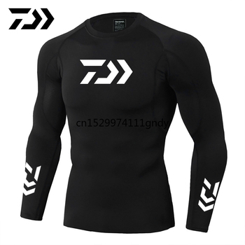 2021 New Daiwa Fishing Shirt Outdoor Sports Wear Tshirt Patchwork Fitness Body Shirt Anti-mosquito Breathable Fishing Tshirt