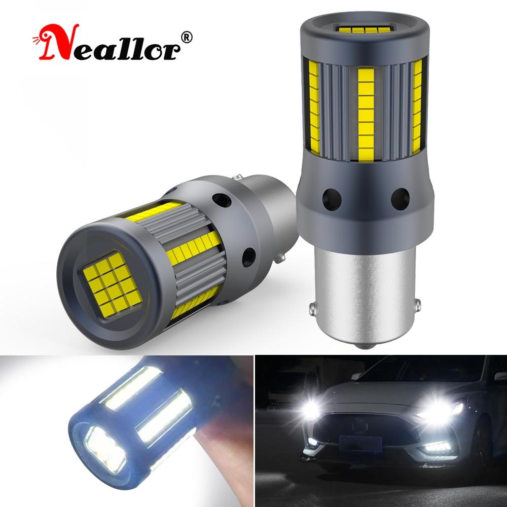 2x For VW Passat B5 B6 B7 Golf 5 6 7 1156 BA15S P21W LED 7506 Car Accessories DRL Turn Signal LED Light Backup Reverse Bulb Auto