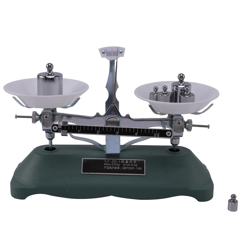 200G/0.2G Mechanical Tray Balance Scale With Sensitivity Portable Chemical Physics Laboratory Teaching Tool