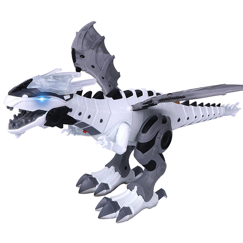 Children Electric Dinosaur Toy Simulated Animal T-Rex Machinery Spitfire Walk Smart Robot Toy Wholesale