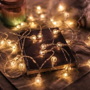 Image 4 - Светодиодная гирлянда с гипсофиловыми шариками, праздничное освещение, Сказочная гирлянда с аккумулятором для помещений, украшения для рождества, свадьбы, вечеринки