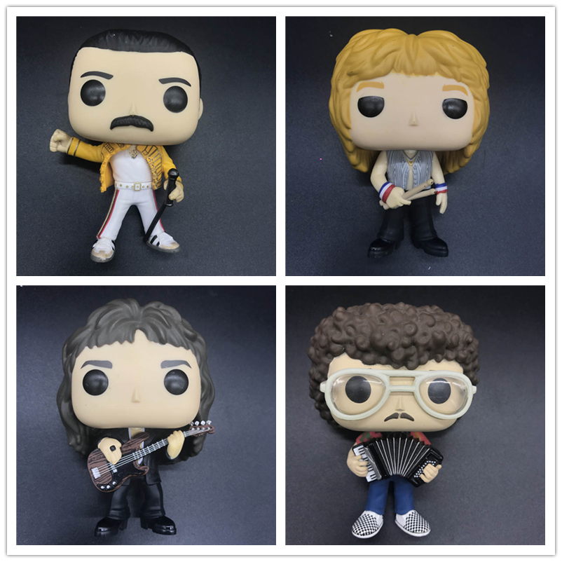 Original Queens-rocks Roger Taylor /John Deacon/FREDDIE MERCURY Band Model Toy Vinyl Figure No Box