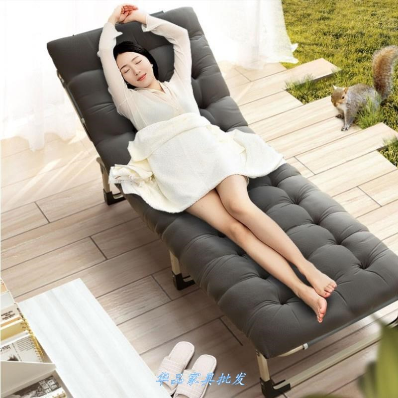 Folding Bed Single Bed Siesta Home Simple Lunch Bed Adult Portable Multi-function Camp Bed Office Recliner