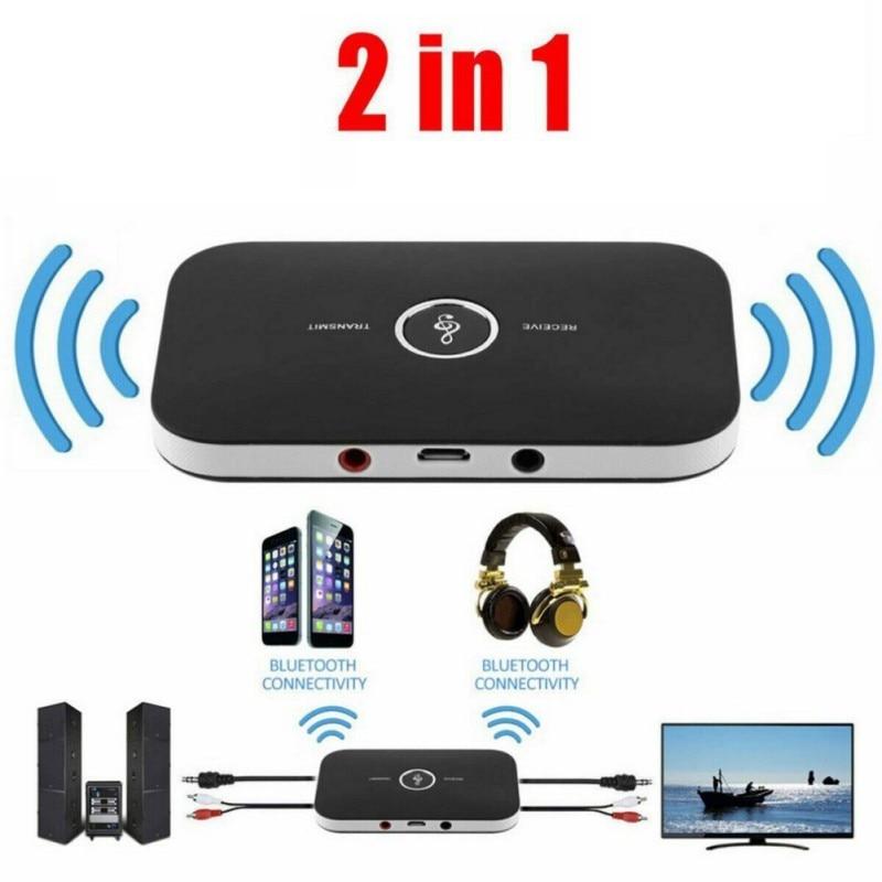 Hot Bluetooth B6 Transmitter Receiver Wireless Audio Adapter For Headphones Speakers TV 3.5mm Music Receiver Sender