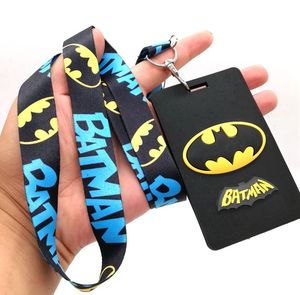 1 Pcs Cartoon batman Lanyard Key Chains Card Holders Bank Card Neck Strap Card Bus ID Holders