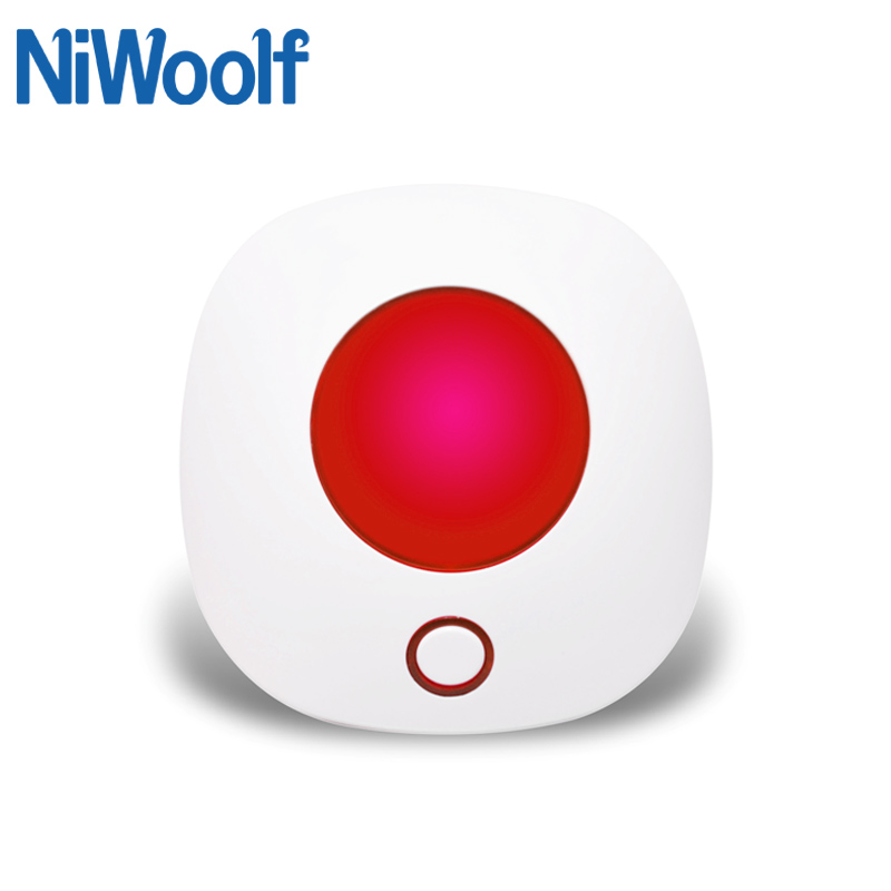 Indoor Wireless Siren 433MHz Strobe Siren Alarm For Our Tuya Wifi Gsm Alarm System