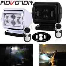 MOVOTOR 1Pcs 60W DC 12/24V LED 서치 라이트 무선 원격 제어 스포트 라이트 마그네틱베이스 자동차 보트 차량 랭글러 빔