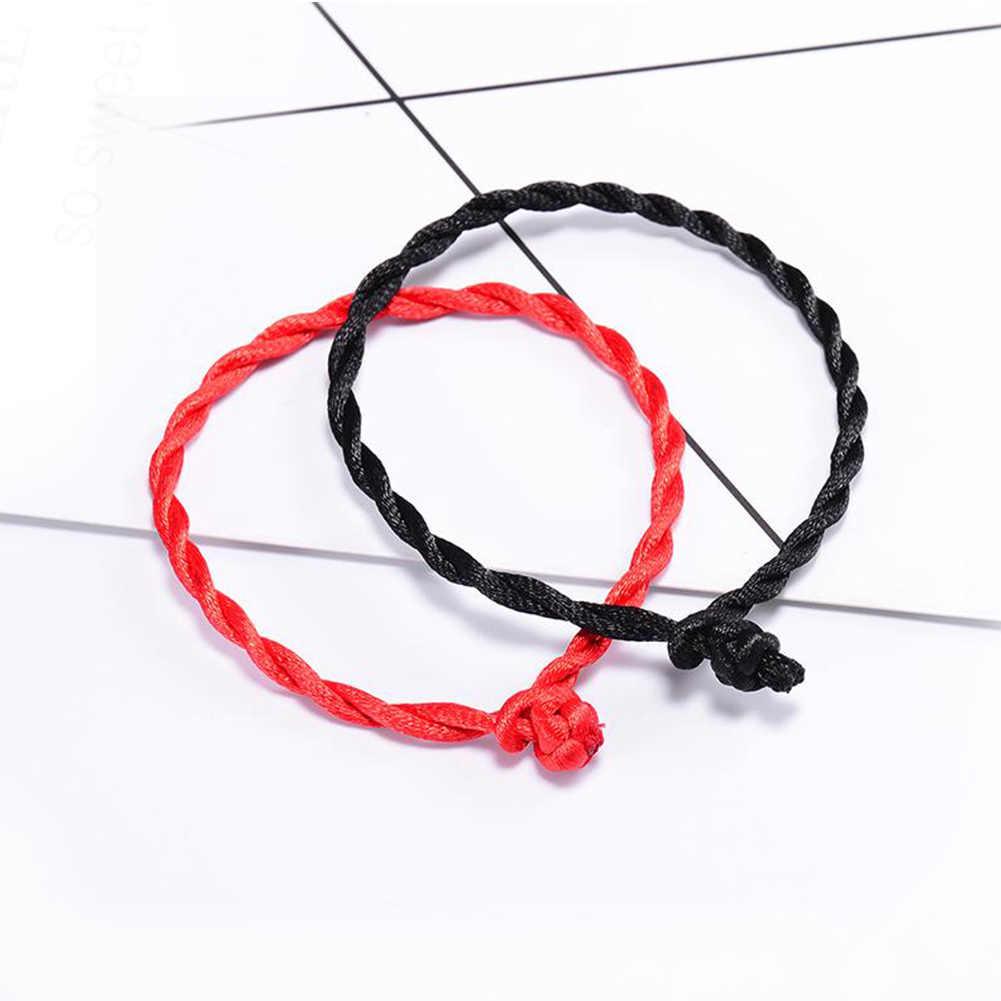 Gorąca sprzedaż 2020 1PC moda czerwona nić bransoletka sznurkowa szczęście czerwony zielony ręcznie robiona bransoletka na sznurku dla kobiet mężczyzn miłośnik biżuterii para