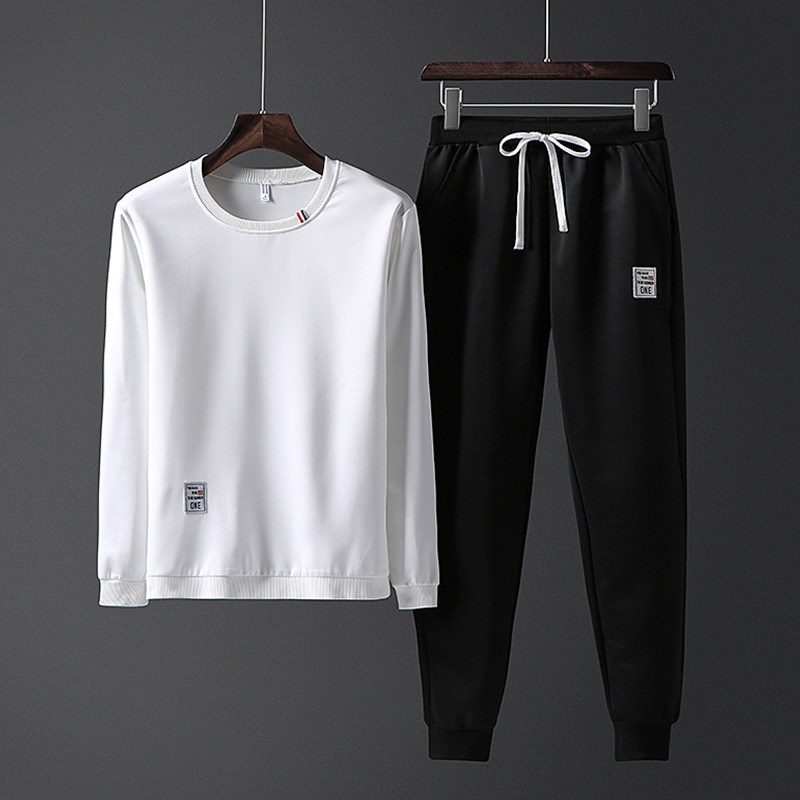 Autumn New Style Korean-style Trend MEN'S Casual Suit Youth Fashion Casual Sports Hoodie Running Fitness Suit