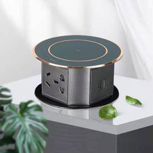 Automatic Pop Up Socket With USB Wireless Charging Intelligent Home Office Table Hidden Retractable Sockets Waterproof Plug