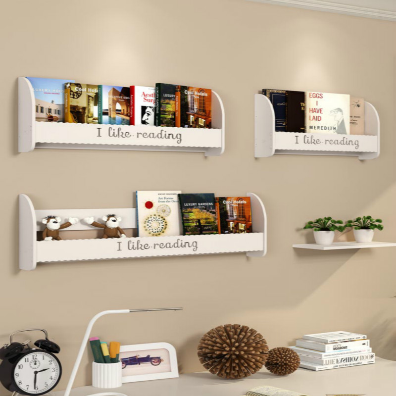 Children's Wall Hanging Bookshelf Simple Painting Kindergarten Magazine Frame Bedroom Bedside Shelf
